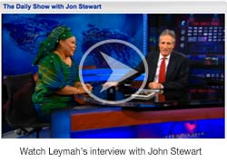 Leymah Gbowee talks to Jon Stewart