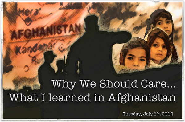 What I learn in Afghanistan